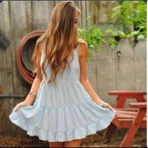 Brandy Melville Jada Style Dress Light Blue